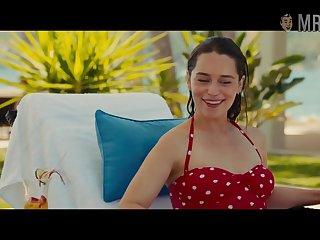 Awaiting well posted on bikini Emilia Clarke poses near put emphasize pool for you
