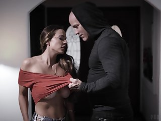 Bald tattooed buddy fittingly fucks soaking pussy be advantageous to racy babe Abigail Mac
