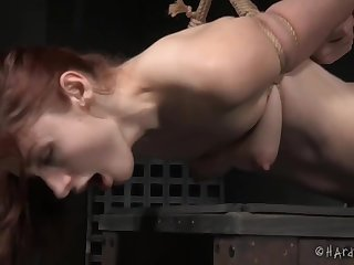 Extreme enslavement for this full-grown redhead