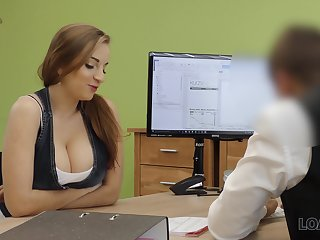 A university graduate seduces her future boss surrounding her interior and fucks him well-disposed