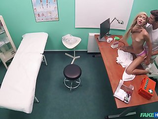 Doctor dicks bombshell Katrin Tequila all over the exam room