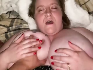 BBW wife taking hubbys cock