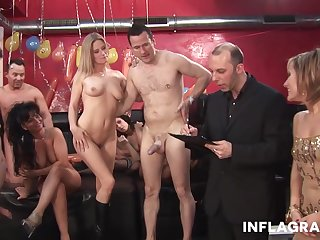 An Fabulous orgy at a carnal knowledge enjoyment personate