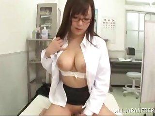 POV video of doctor Mashiro Yuuna having mating with the brush holder