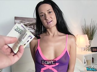 Divine young lady agrees to screw hard for some cold, hard cash