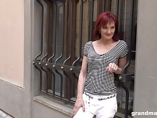 Veritable granny escort Claudia picks give one young guy on the street
