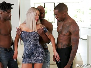 Pre-eminent age fucking in the ass with three black hunks