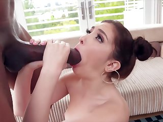 She can't believe how big his dick is!