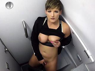 Blonde MILF Banana Masturbation Cam