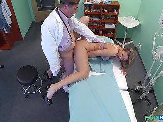 Doctor with big dick, insane sexual tryout with a if it happens