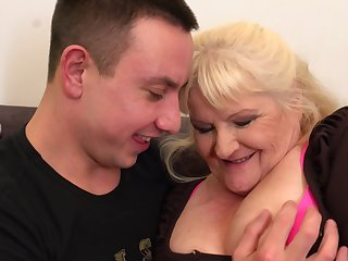 Leona is a dirty minded, blonde granny who likes upon wear frowning fishnets with the addition of fuck younger guys