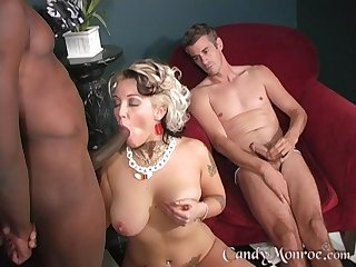 Wild interracial fucking uncommitted wife Candy Monroe and a BBC