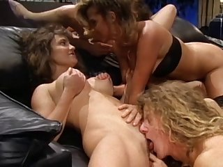 Sensual threesome with slutty wife Alabama and her best friend