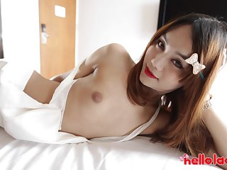 Asian shemale Ning is made for some quite immutable doggy anal banging