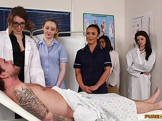 First time eon these nurses allotment dick in the Hospital