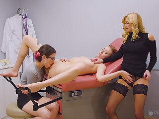 Seething MILFs in a sexual threesome