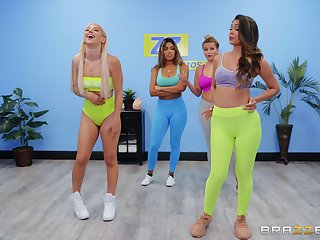 Abella Danger added to Katana Kombat hook up after a fitness class session
