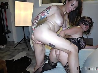 Adeline double fisted, hard sex and fisting stripe with pervert