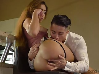 Brute Kitchen Sex with Squirting Melody Diminutive